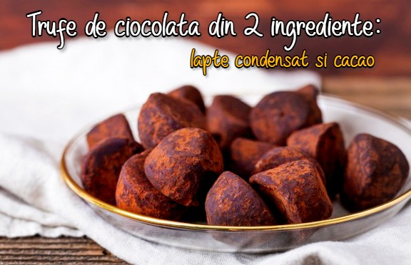 Trufe de ciocolata din 2 ingrediente