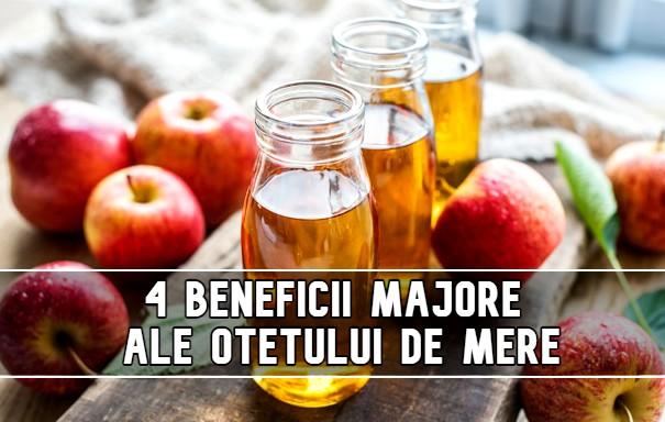 4 beneficii majore ale oțetului de mere, demonstrate științific