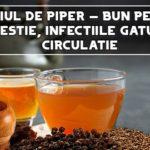 Ceaiul de piper – bun pentru digestie, infectiile gatului, circulatie