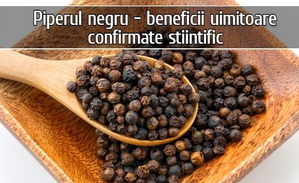 Piperul negru, regele condimentelor – beneficii confirmate stiintific