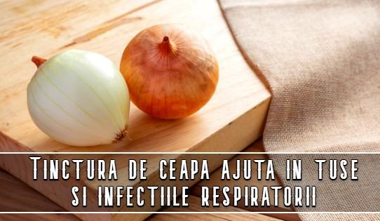 Tinctura de ceapa ajuta in tuse si infectiile respiratorii
