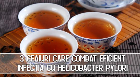 3 ceaiuri care combat eficient infectia cu Helicobacter pylori