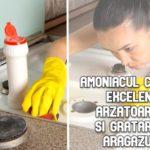 Amoniacul curata excelent arzatoarele si gratarele patate de pe aragaz