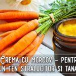 Crema de morcov pentru ten