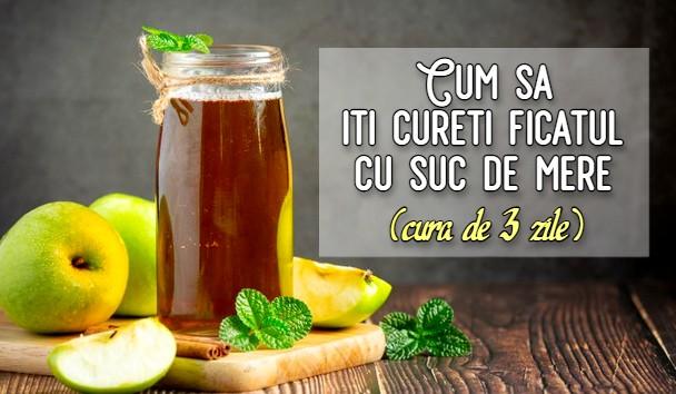 Cum sa iti cureti ficatul cu suc de mere (cura de 3 zile)