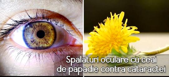 Spalaturi oculare cu ceai de papadie contra cataractei