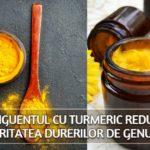 Unguentul cu turmeric reduce severitatea durerilor de genunchi