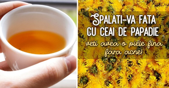 Ceaiul de papadie face pielea fina
