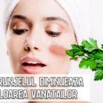 Patrunjelul diminueaza culoarea vanatailor si inflamatia pielii