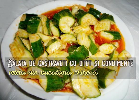 Salata de castraveti cu otet si condimente