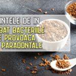 Semintele de in combat bacteriile care provoaca bolile paradontale