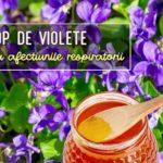 Sirop de violete pentru tuse
