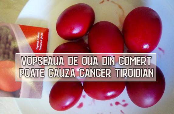 Vopseaua de oua din comert poate cauza cancer tiroidian – studiu ANPC