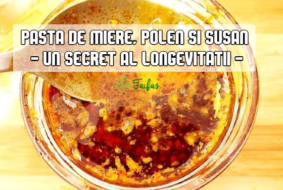 Pasta de miere, polen și susan - secretul longevitatii