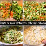Salata de rosii castraveti patrunjel si tahini