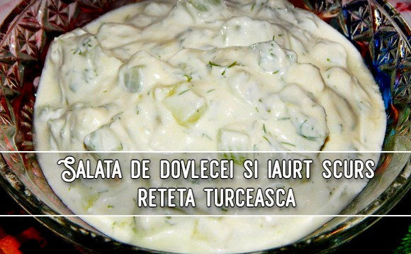 Salata de dovlecei si iaurt scurs - reteta turceasca
