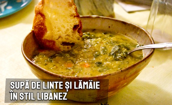 Supa de linte si lamaie in stil libanez