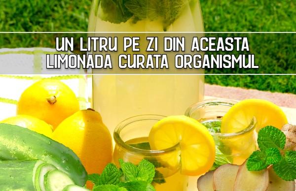 Un litru pe zi din aceasta limonada curata organismul