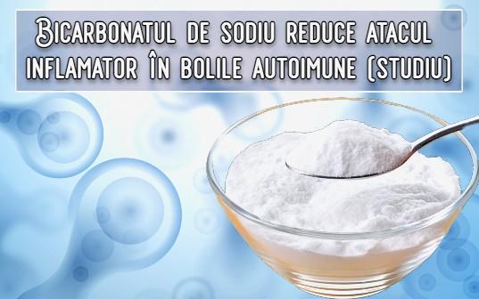 Bicarbonatul de sodiu - un ingredient ieftin care reduce atacul inflamator in bolile autoimune
