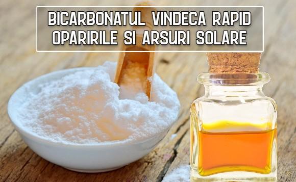 Bicarbonatul vindeca rapid oparirile si arsuri solare