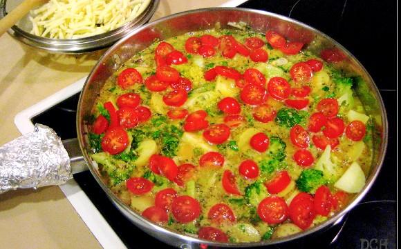 Broccoli cu rosii
