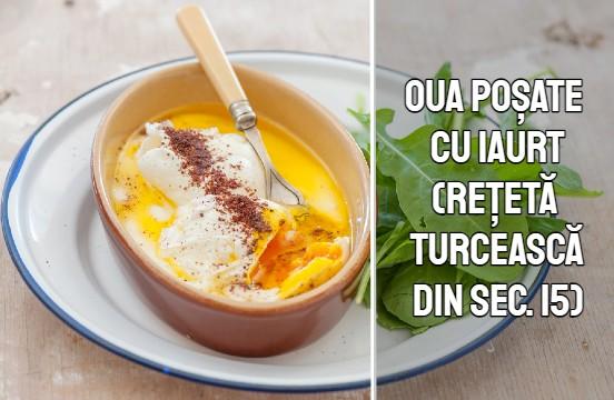 Oua turcesti cu iaurt