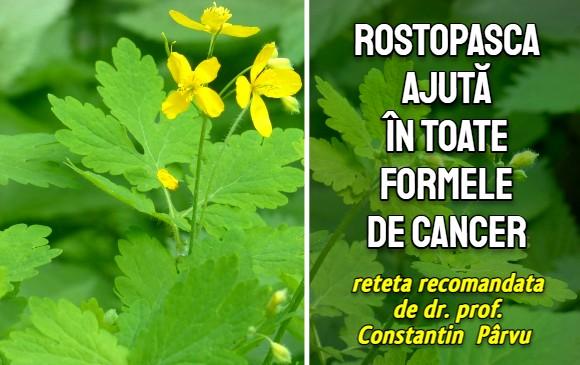 Rostopasca ajuta in toate formele de cancer - dr. Constantin Parvu