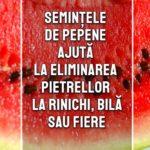 Semintele de pepene ajuta la eliminarea pietrelor la rinichi, bila sau fiere