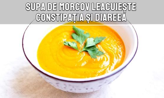 Supa de morcov leacuieste constipatia si diareea