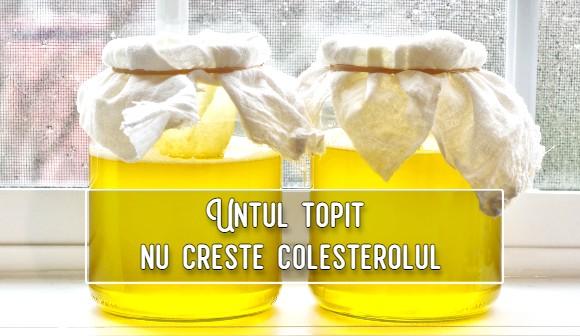 Untul topit nu creste colesterolul