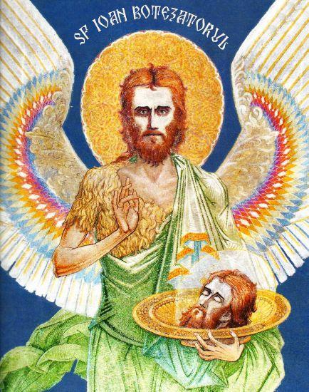 Sf. Ioan Botezătorul - Pictură de Arsenie Boca