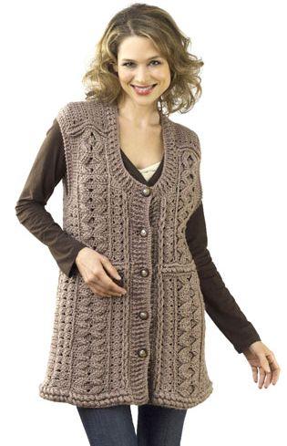 Crochet Button Tunic Vest Paltoane Dama Elegante Modele