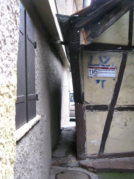 Reutlingen/ Engste Straße der Welt