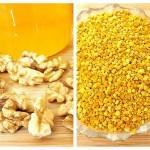 nuci, miere si polen