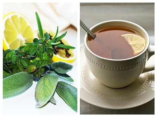 Ceai de Salvie și Ghimbir Tuse, Dureri în Gât