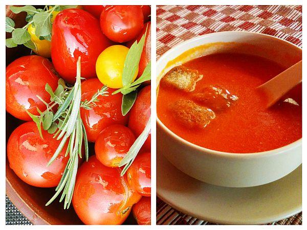 Supă-Cremă de Roșii cu Smântână