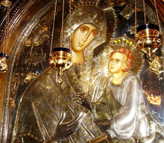 Icoana Maicii Domnului Grabnic Ascultătoarea Mănăstirea Lainici